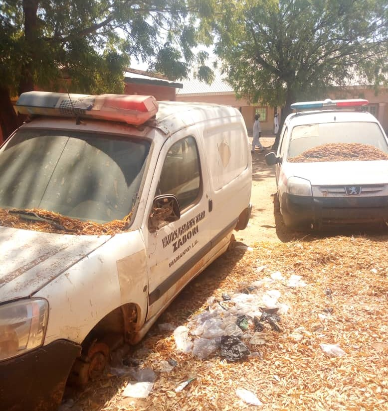 some of the ambulances in bad condition